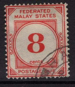 MALAYA FMS SGD4w 1926 8c RED WMK CROWN TO LEFT OF CA FINE USED