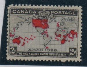 Canada Sc 85 1898 2 cent Map  stamp mint NH
