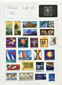 STAMP STATION PERTH Poland #Selection 23 Used on Album Page-Unchecked L113
