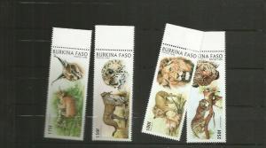 BURKINA FASO 1996 LIONS SCOTT  1079-82 MNH
