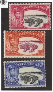 Brunei #76-78 MH complete