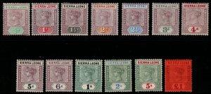 SIERRA LEONE SG41/53 1896-7 DEFINITIVE SET MTD MINT