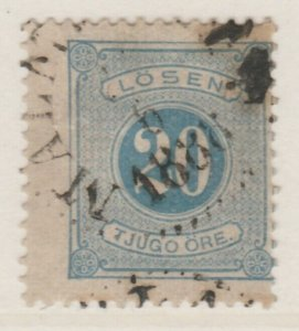 Sweden Postage Due 1874-86 20o Perf 13 Fine Used A13P19F145