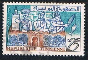 Tunisia 352 Used Oil Flowers (BP7310)