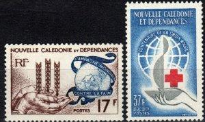New Caledonia #323, 328  MNH  CV $11.50 (X3056)