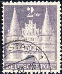 ALLEMAGNE / GERMANY Bizone 1948 Mi.98.YIIB(98.IIwg) 2DM T.2 p.11 - VF Used (e)