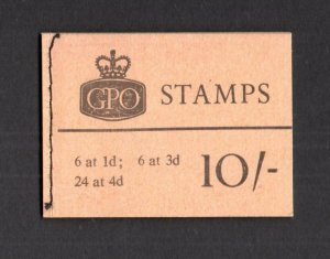 10/- BOOKLET AUGUST 1966 SG X13 Cat £40