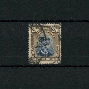 SOUTHERN RHODESIA 2/ 6p #13 nice copy Cat $70 British Commonwealth