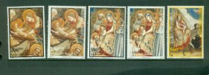 Palestine #108a-112a (1999 Christmas partial set) VFMNH