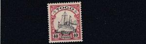 TOGO  1900      S G G13  40PF  BLACK &  CARMINE       MNH