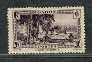 Gabon Sc#147 M/H/VF, High Value, Cv. $47.50