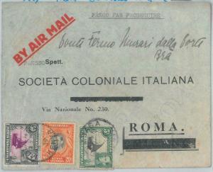 82662 - KENYA UGANDA TANGANIKA  - Postal History - Airmail COVER to ITALY  1939