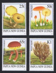 Papua NG Fungi Mushrooms 4v SG#762-765a MI#771-774 SC#872-875