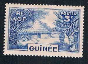 French Guinea 129 MLH Canoe on river (BP0913)