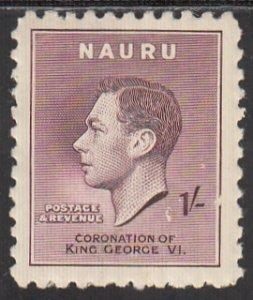 Nauru, Sc 38, MLH, 1937, King George VI