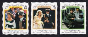 South Georgia MNH 158-60 Prince Andrew & Sarah 1986 SCV 3.35