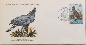 O) 1978 GAMBIA, RESERVE, WWF BIRDS OF PREY AND WILDLIFE, LONG CRESTED HAWK EAGLE