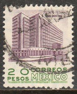 MEXICO 885a, $20Pesos 1950 Definitive 2nd Printing wmk 300 USED. F-VF. (1417)