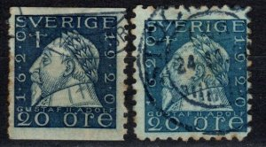 Sweden #164, 166  F-VF Used CV $2.65  (X5675)