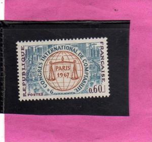 FRANCIA 1967 CONGRESSO DI CONTABILITA´ MNH - FRANCE CONGRES DE COMPTABILITE´