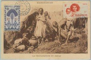81137 - MADAGASCAR - POSTAL HISTORY - POSTCARD / Maximun Card ? 1949