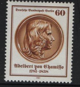 Berlin 9N462, MNH 1981 Adelbert Von Chamisso
