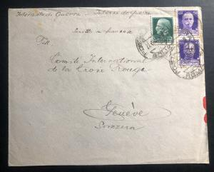 1942 Ferramonti Italy Concentration Camp Cover To Swiss Red Cross Fedor Benyei
