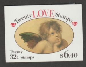 U.S. Scott #2959a BK229 Love Cherubim Stamps - Mint NH Booklet