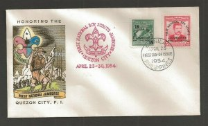 1954 Philippines Boy Scouts First National Jamboree FDC