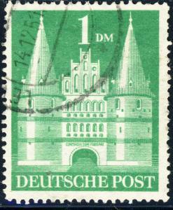 ALLEMAGNE / GERMANY Bizone 1948 Mi.97baYIIG(97.IIeg) 1DM T2 p.14 VF Used (a)