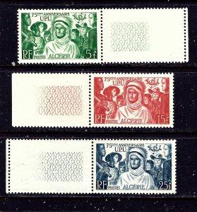 Algeria 226-28 MNH 1949 UPU 75th Anniversary
