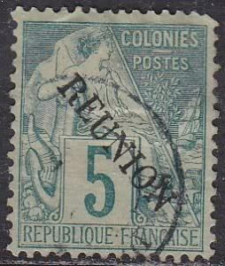Reunion 20 French French Colonies 49 O/P 1891