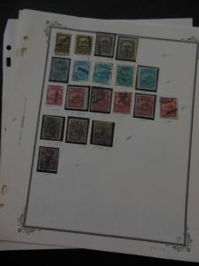 MEXICO : Nice Mint & Used Specialized group of 1895-97 Officials, Scott #O10-29.