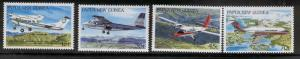 PAPUA NEW GUINEA 687-90 MNH AIRCRAFT 1987