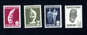 Greenland 102-105  VF, MNH, Post Office Fresh, CV $11.00 ...2510121