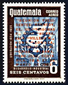 Guatemala C266, MNH, Meeting of Kennedy with Central American Leaders