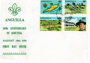 Anguilla 1970 Sc 95-8 Commemorative Perforate FDC-1