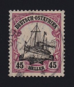 German East Africa #37 (1905-16) 40pf purple & black Kaiser's Yacht VF Used