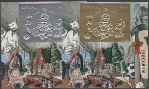Mali stamp Christmas gold- and silver foiled block SAMPLE MNH 1993 WS118850