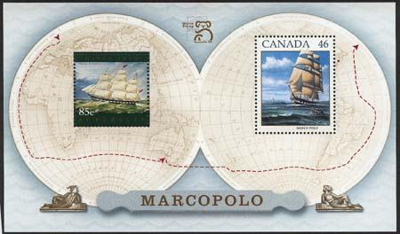 Canada (with Australia) - 1999 Marco Polo Souvenir Sheet
