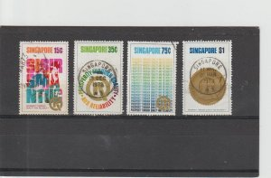 Singapore  Scott#  167-170  Used  (1973 Quality and Reliability)