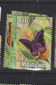 MALAYA MALAYSIA   (P1409B)   BUTTERFLY  SG  68-71   MNH