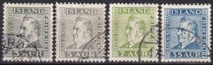 Iceland #195-8  F-VF Used CV $9.20  (Z8006)