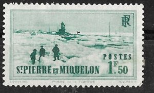 St. Pierre Miquelon # 195  Tortue Lighthouse  1.50fr.   (1)   Unused