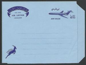 ABU DHABI 1967 40c aerogramme - unused.....................................52092