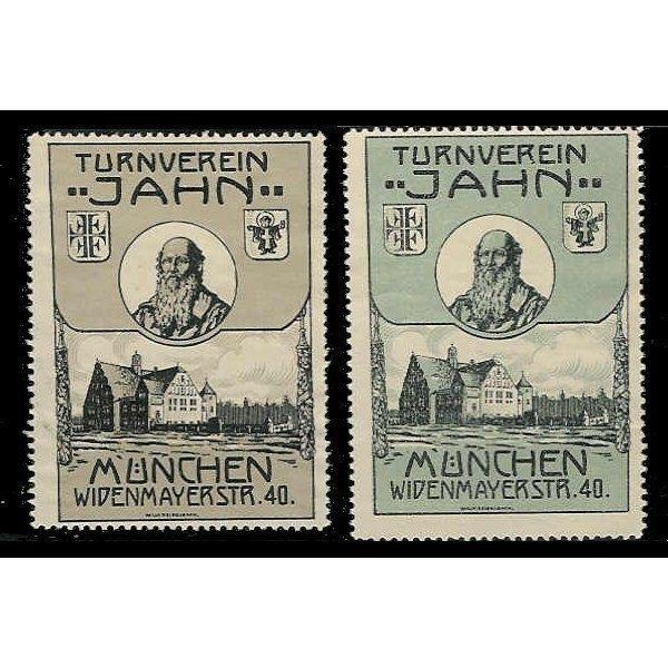 Germany - Munich Turners Society Poster Stamps