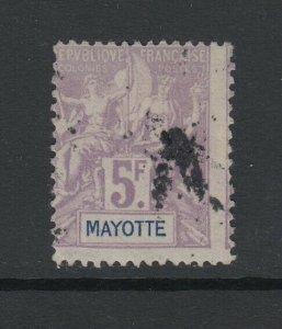 Mayotte, Scott 20 (Yvert 14), used