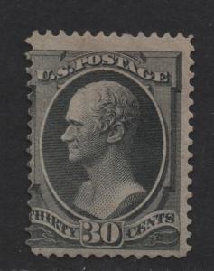 $US Sc#165 M/A regummed, Crowe Cert., RP, Cv. $1200