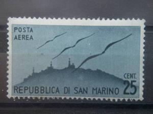 SAN MARINO, 1946, MNH 25l, Airmail, Scott C41