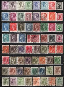 Luxembourg ~ Lot of 110 Different Stamps ~ Unused, Used, MX Conditions